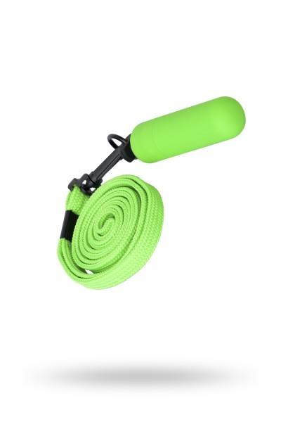 Вибропуля Sexus Funny Five с ремешком, ABS пластик, Зеленый, 6,3 см