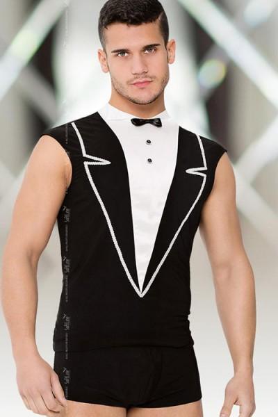 Shirt and Shorts - Майка и шорты мужские черно-белые-XL