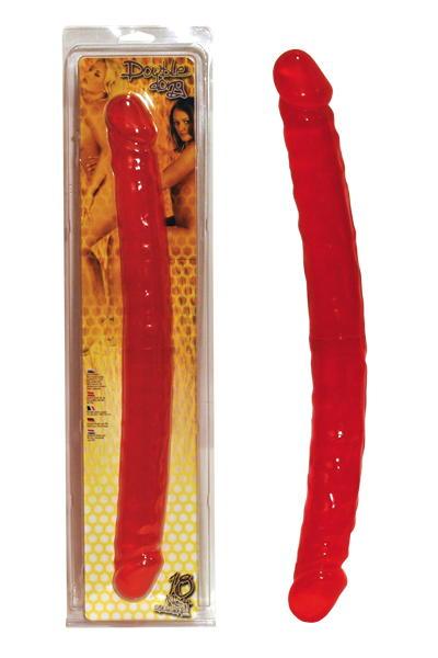 Фаллоимитатор Dream Toys двусторонний, TPR, розовый, 45,7 см