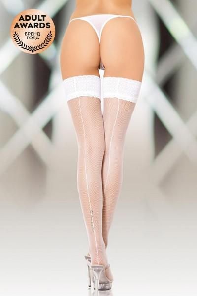 Чулки-сетка со швом SoftLine Collection, белый, L