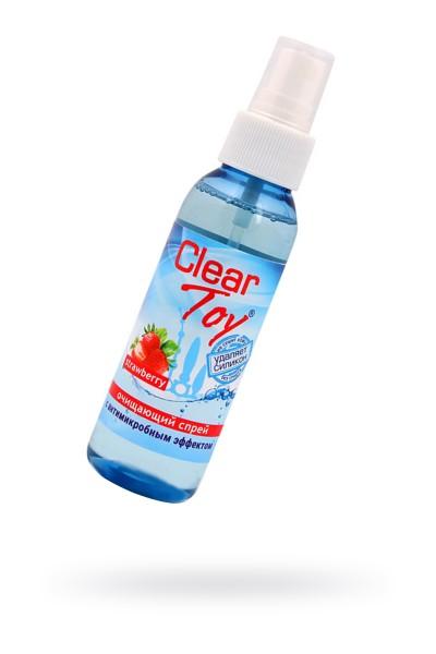 """Очищающий спрей CLEAR TOYS STRAWBERRY"""" с антимикробным эффектом, 100 мл"""""""