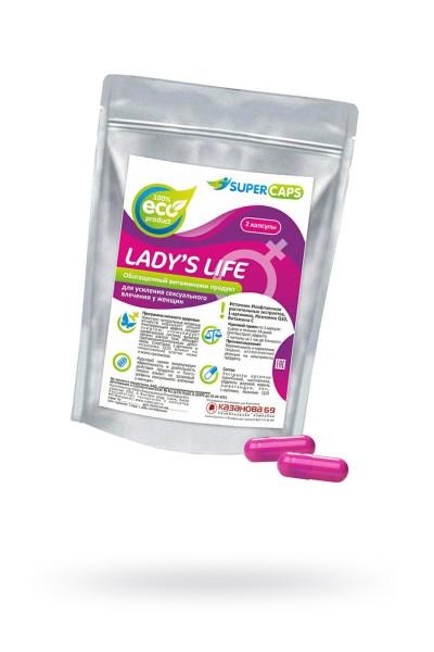 Капсулы Lady'sLife возбуждающие для женщин ,2 штуки
