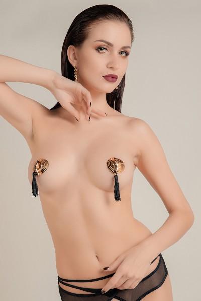Пэстис Waname Apparel Hearts with tassels в форме сердец с кисточками, золотисто-черный
