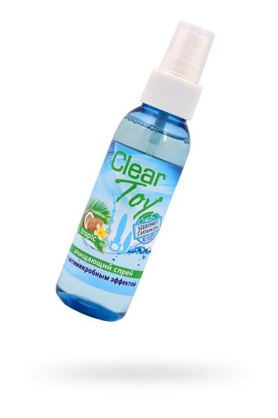 """Очищающий спрей  CLEAR TOY TROPIC"""" с антимикробным эффектом, 100 мл"""""""