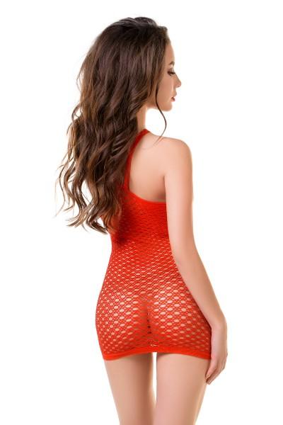Платье-сетка Joli Praia, красный, L/XL