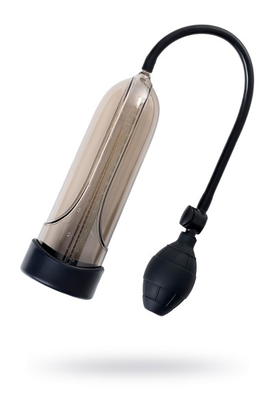 Помпа для пениса Sexus Men Training, вакуумная, механическая, ABS пластик, чёрный, 25 см