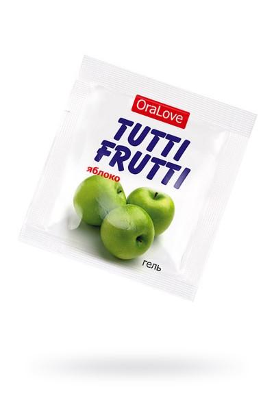 Съедобная гель-смазка TUTTI-FRUTTI для орального секса со вкусом яблока,4 гр по 20шт в упаковке