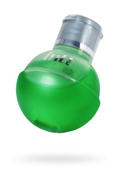Массажное масло для поцелуев INTT FRUIT SEXY Mint с разогревающим эффектом и ароматом мяты, 40 мл