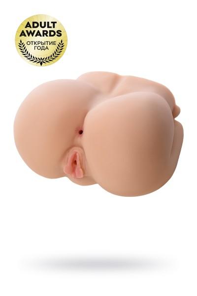 Мастурбатор реалистичный с вибрацией и ротацией  KOKOS Juliana Hip, TPR, телесный, 23 см