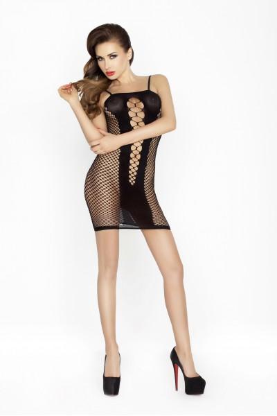 Платье-сетка Passion Erotic Line, черное, OS