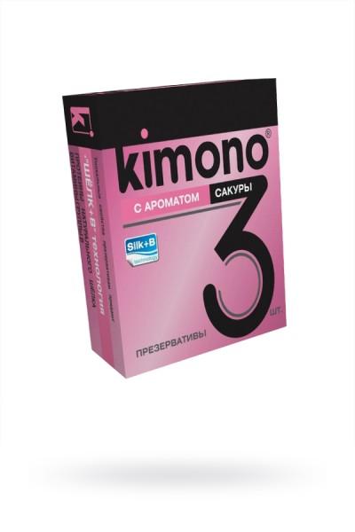 Презервативы КИМОНО с ароматом сакуры №3, 1 шт.