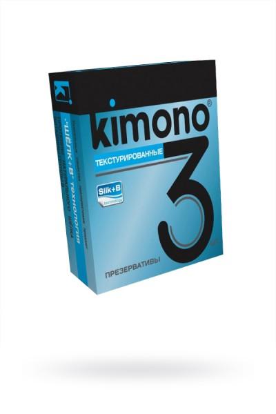 Презервативы КИМОНО текстурированные №3, 1 шт.