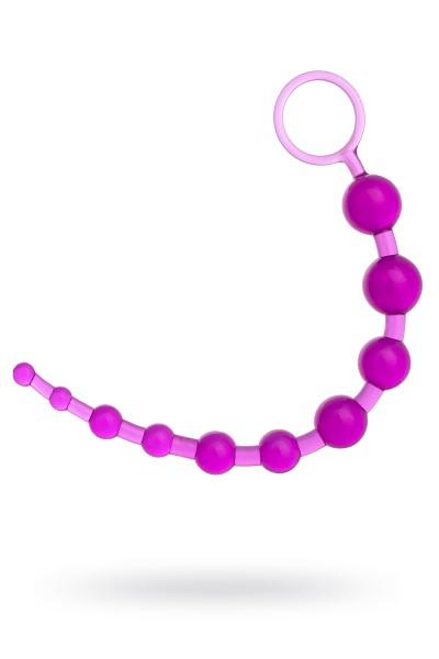 Шарики анальные TOYFA, PVC, фиолетовый, 30 см