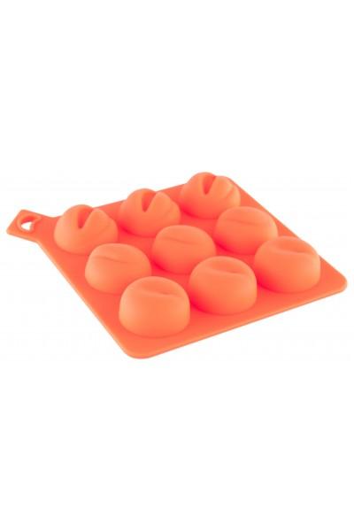 Сувенир Форма для льда TOYFA Black & Red, силикон, оранжевая, 13 см