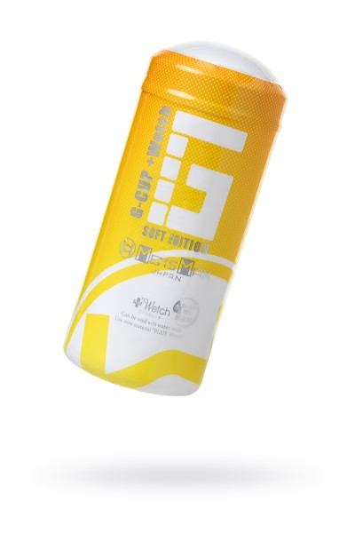 Мастурбатор нереалистичный, G-CUP, MensMax, TPE, белый, 15.5 см