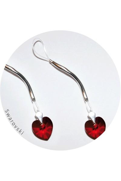 Украшение для груди Me Seduce с кристаллами Swarovski в форме сердца, красно-серебристое