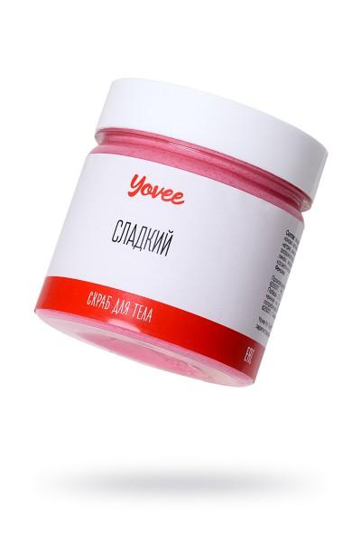 Скраб для тела Yovee by Toyfa Романтическое свидание «Сладкий», с ароматом клубничного йогурта, 200 гр