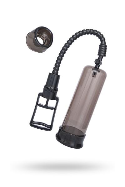 Помпа для пениса Sexus Men Training, вакуумная, механическая, ABS пластик, чёрный, 22 см