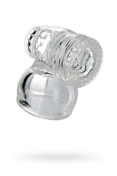 Насадка мужская Колибри для массажера Magic Wand, силикон, прозрачный, 9 см