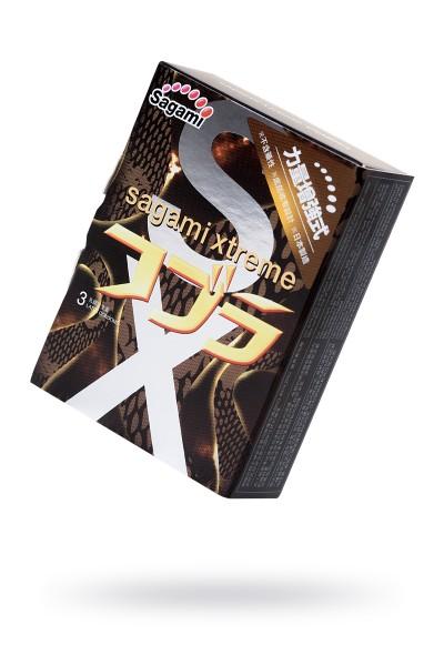 Презервативы латексные Sagami Xtreme Cobra №3, 19 см