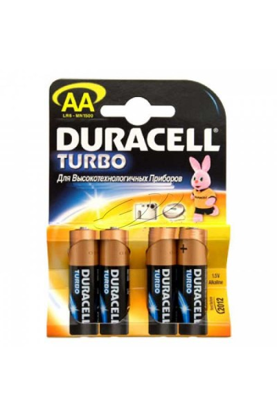 Батарейки типа АА Duracell LR6 Turbo 4 шт
